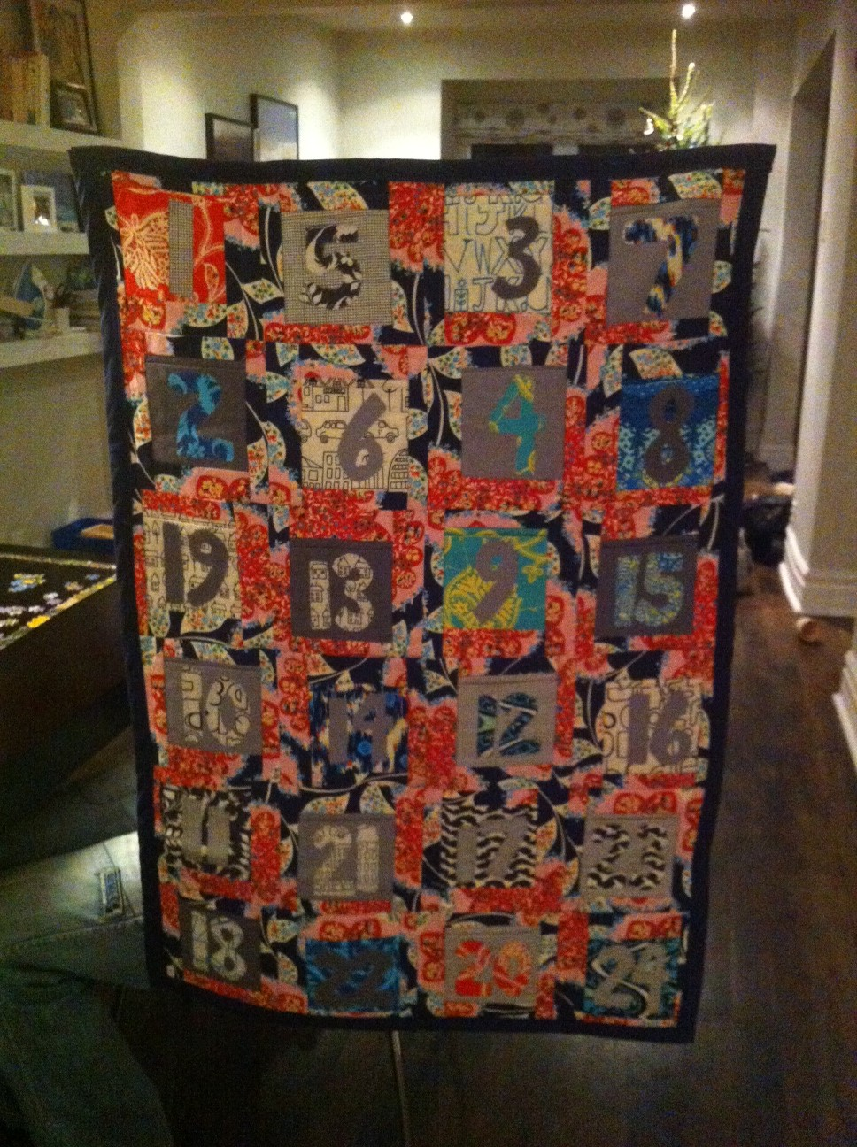 Quilted pocket advent calendar